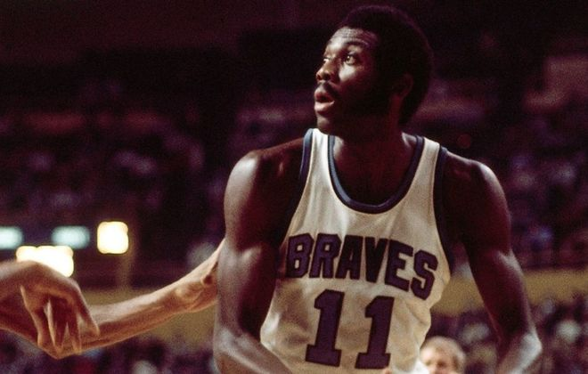 Bob McAdoo during a 1972 game at the Aud. (Getty Images)