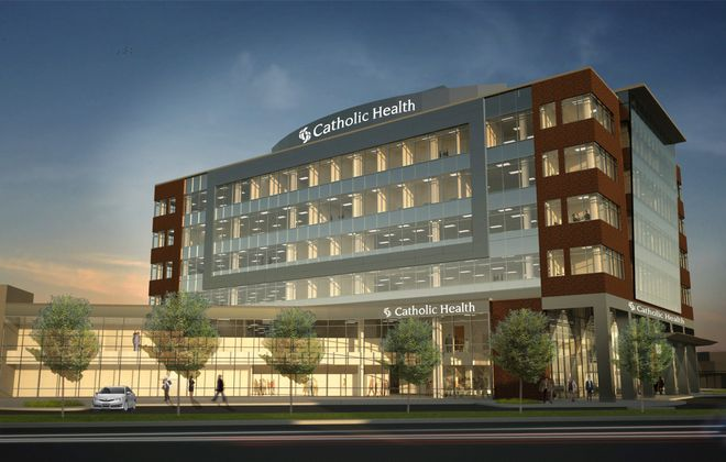 Catholic Health has announced plans to build its headquarters and training center on Genesee Street.