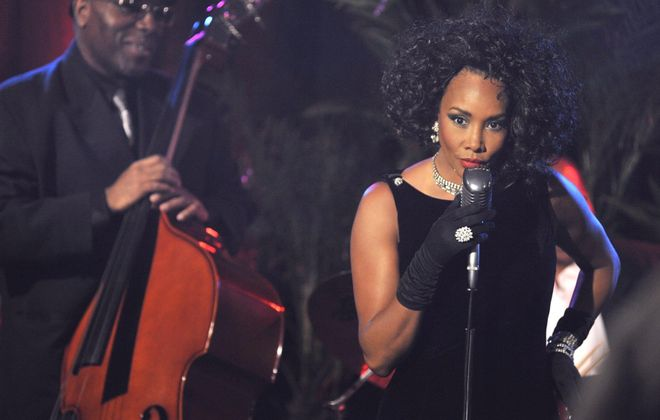 """Vivica A. Fox, one of the professional actors with national careers in """"Queen City,"""" plays a singer named Lady Midnight. The movie, by Buffalo's Peter McGennis Jr., is set in 1970s Buffalo."""