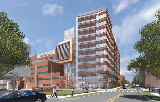 Rendering of planned Clinical Sciences Center at Roswell Park Cancer Institute.