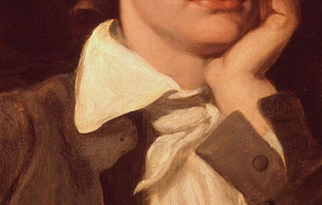 This William Hilton portrait of John Keats hangs in the National Portrait Gallery in London.
