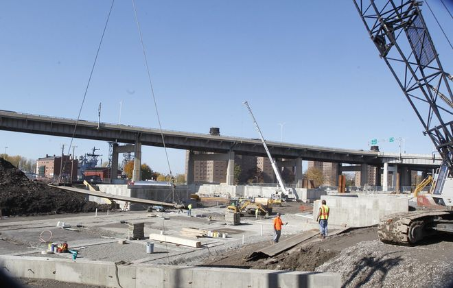 The Buffalo waterfront is one of the region's hot spots for commercial construction projects.