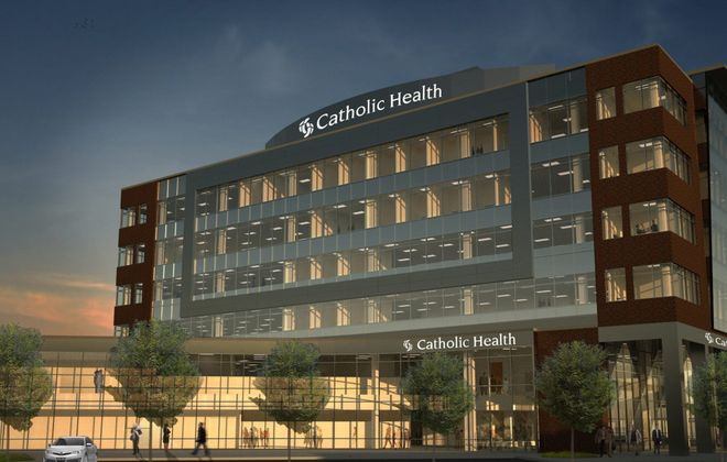 This is what's envisioned for Catholic Health System's $46 million project at 144 Genesee. County Executive Mark Poloncarz was the lone dissenter as ECIDA voted, 12-1, for package of tax breaks.