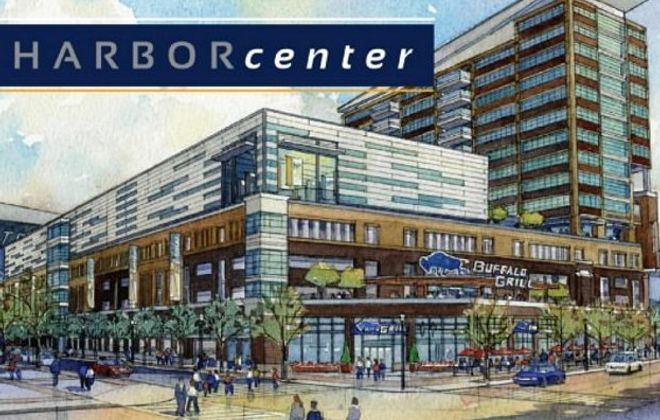 Architect's rendering shows the Sabres' plan for the Webster block, including two indoor ice rinks, a sports bar, a hotel and retail space.