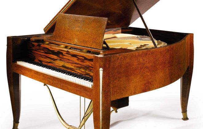 Piano designed by Emile-Jacques Ruhlmann and purchased in 1940s by Butler family, founders of The Buffalo Evening News.