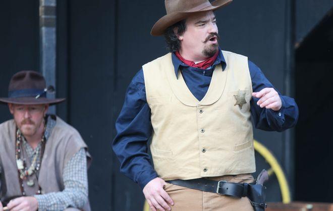 Matt Witten as Duke at Shakespeare at Delaware Park's production of Measure For Measure during dress rehearsal on Sunday, July 21, 2013.  (Robert Kirkham/Buffalo News)