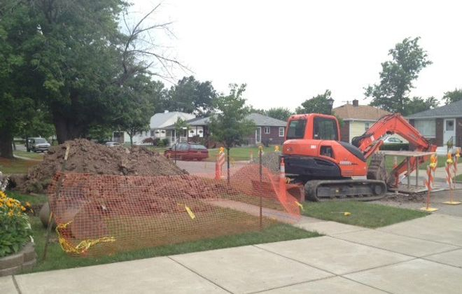 A clogged sewer line has evolved into a massive repair project on Dupont Avenue in the Town of Tonawanda.