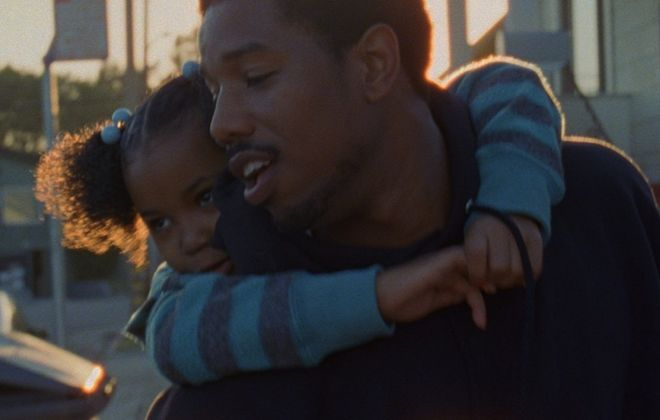 "Michael B. Jordan is Oscar Grant III and Ariana Neal is his daughter in ""Fruitvale Station."""