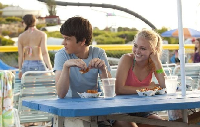 "Liam James as Duncan and AnnaSophia Robb as Susanna in ""The Way Way Back."""