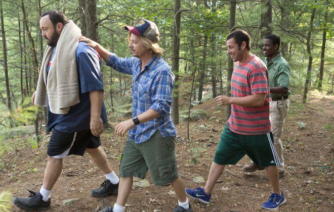 "From left, Kevin James, David Spade, Adam Sandler and Chris Rock return in ""Grown Ups 2."""