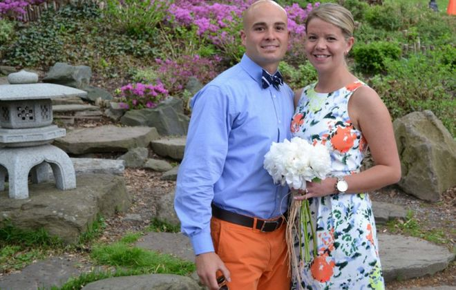 Kathryn E. Roehl and Nolan F. Weaver wed in the Japanese Gardens