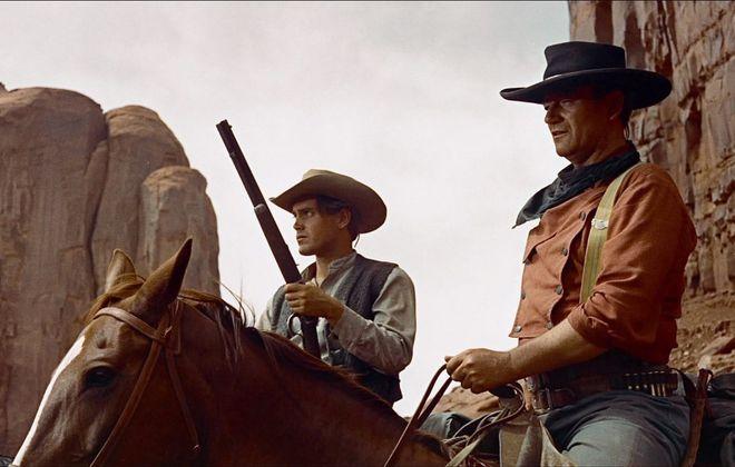 John Wayne starred as a Texan seeking vengeance in 1956 John Ford film that still resonates today.