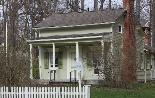 Before he was president, Millard Fillmore, above, built the house at left in East Aurora for his future wife, Abigail.