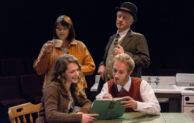 """The flawless ensemble of """"A Life"""" includes, from left, Josephine Hogan, Genevieve Lerner, Vincent O'Neill and Joe Liolos."""