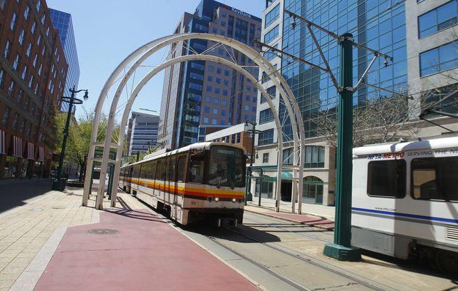 Single-track service will begin Monday on Metro Rail's surface section. (Buffalo News file photo)