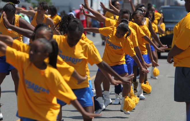 The Crusaders drill teams took part in last weekend's Juneteenth parade.