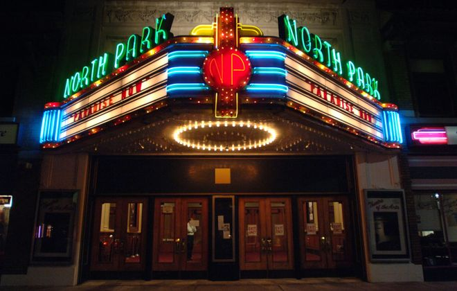 Before its closure, the North Park Theatre on Hertel Avenue, shown in a 2005 photo, was Buffalo's premier art and independent theater.