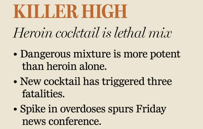 New heroin-fentanyl cocktail linked to deaths