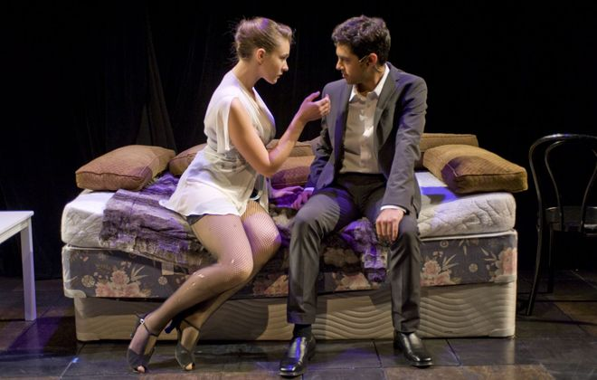 """50 Shades! The Musical"" is on stage at the 710 Main Theatre through Sunday."