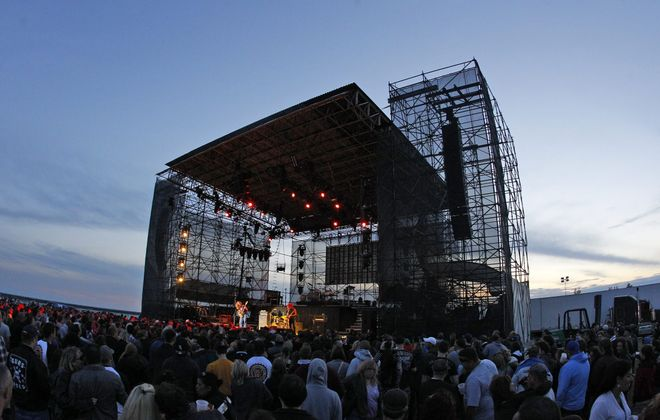 Monster Truck, a Canadian rock band from Hamilton, Ontario, opened at the Outer Harbor for Guns N Roses Wednesday night. Members include lead singer and bassist Jon Harvey, guitarist Jeremy Widerman, keyboardist Brandon Bliss and drummer Steve Kiely. (Photo by Harry Scull Jr. / Buffalo News)
