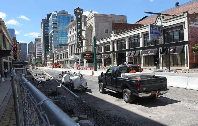 Construction on the 600 block of Main Street. Photo taken July 25.