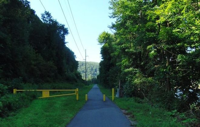 The Armstrong Trail along the Allegheny River is lovely.