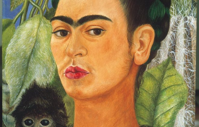 """Frida Kahlo's """"Self-Portrait With Monkey"""" is part of touring show."""