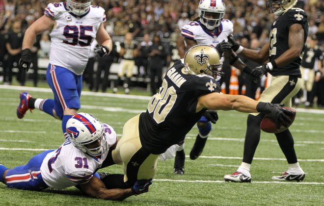 Jairus Byrd (31) got his most extensive action of the season against the New Orleans Saints.