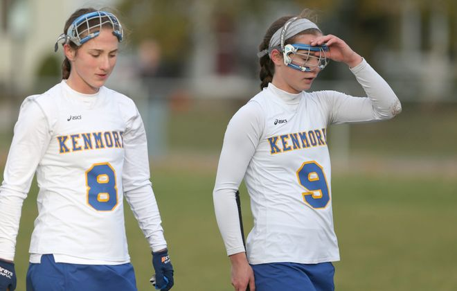 Kenmore field hockey player Brianna, left, and Kaeli Mathias said their teammates have been an enormous help as they cope with the death of their father in September.