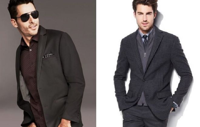 Versatile sport coats that can be dressed up or down include styles from Alfani at Macy's, left, and the Mark Anthony collection at Kohl's.