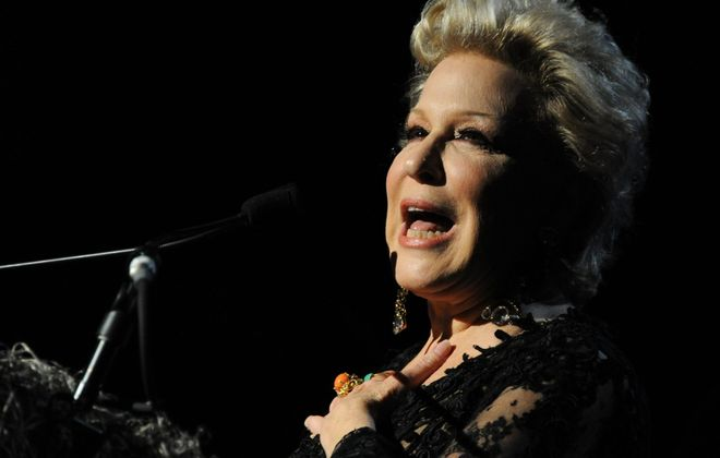 "Bette Midler, seen here in an Oct. 31 file photo, brought her ""Conversation with Bette Midler"" to the Avalon Ballroom."