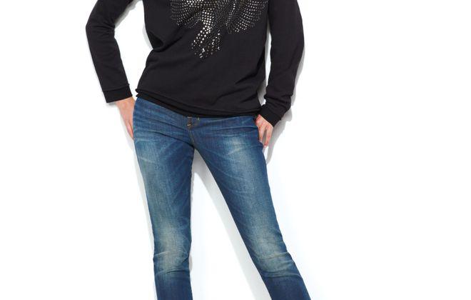 Kohl's - Rock & Republic  studded fleur de lis luxe sweatshirt