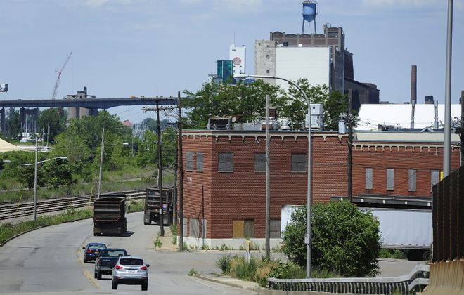 A view down Ohio Street, a connector of the Central and Outer Habors. (Buffalo News file photo)