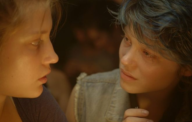 """Adèle Exarchopoulos, left, and Léa Seydoux star in Abdellatif Kechiche's """"Blue Is the Warmest Color."""""""