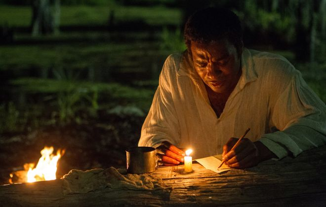 """Chiwetel Ejiofor as """"Solomon Northup"""" in 12 YEARS A SLAVE."""