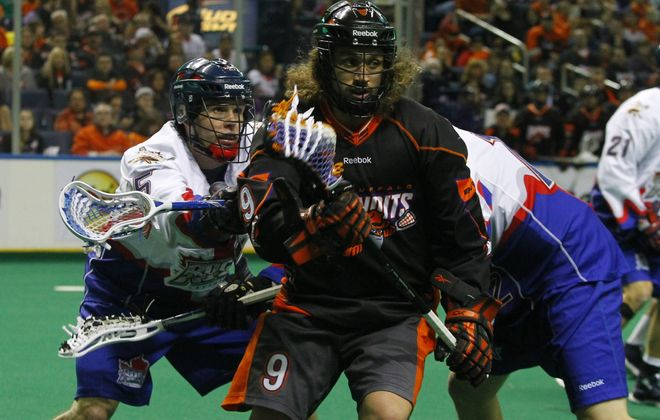 Mark Steenhuis, center, is happy to return to the forward position as the Bandits open their season tonight against the Philadelphia Wings.