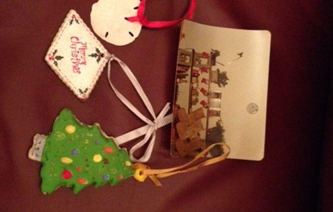 Carol Bieron's homemade ornaments