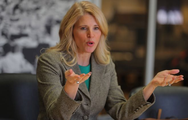 """Beth A. Parlato is defending what Republican county leaders call """"negative"""" ads in the race to fill the 27th Congressional District seat.  (John Hickey/News file photo)"""