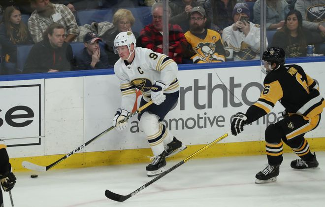 There's no way to know when Jack Eichel is back on the ice again. (James P. McCoy/Buffalo News)
