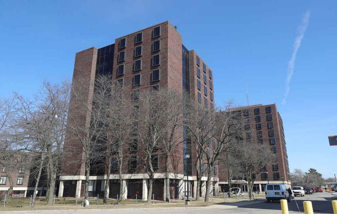 Buffalo State College Tower 2 student residence is vacant as it awaits renovation. (John Hickey/Buffalo News)