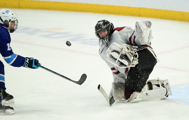 St. Joe's goaltender Joseph Fronczak was named to the first team in Division I (Harry Scull Jr./Buffalo News file photo)