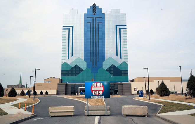 A empty Seneca Niagara Casino parking lot as a result of COVID-19, on Wednesday, March 18, 2020. (Harry Scull Jr./Buffalo News)
