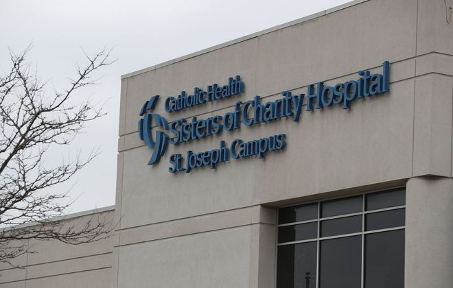The St. Joseph Campus at Sisters Hospital has been converted into a Covid-19-only medical care facility. (James P. McCoy/Buffalo News)