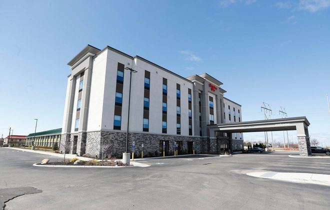 The Hampton Inn on Camp Road in Hamburg remains open but is doing little business. Comptroller Stefan Mychajliw is waiving penalties on hotels that pay their hotel taxes late. (Sharon Cantillon/Buffalo News)