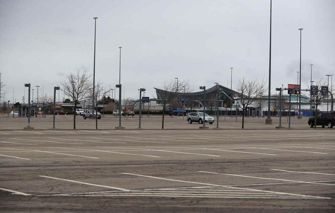 Wide-open parking lots at the Buffalo Niagara International Airport on March 30. (John Hickey/News file photo)