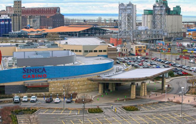 A view of the Buffalo Creek Casino, on Friday, March 13, 2020. (Harry Scull Jr./Buffalo News)