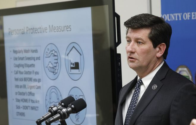 Erie County Executive Mark C. Poloncarz declared a state of emergency in the county Sunday. (Derek Gee/Buffalo News)