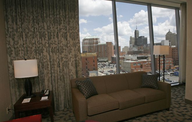 An executive suite at Embassy Suites in the Avant Building on Delaware Avenue. (Derek Gee/News file photo)