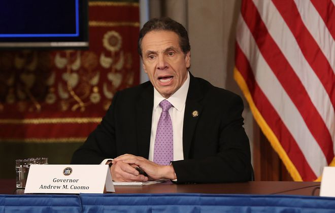 Gov. Andrew Cuomo speaks during a news conference amid the coronavirus outbreak. (Getty Images file photo)