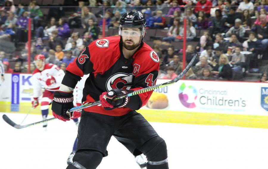 Cincinnati Cyclones winger Justin Vaive is a former fourth-round draft pick of the Anaheim Ducks. (Photo courtesy of the Cincinnati Cyclones)